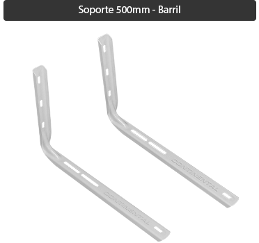 Soporte Split sin soldadura estampado 500 mm Barril