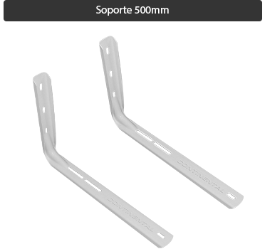 Soporte Split sin soldadura estampado 500 mm